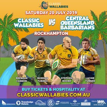 Classic Wallabies vs Central Queensland Barbarians