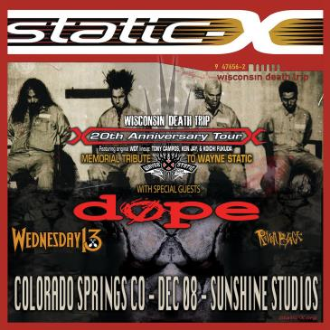 Static X 20th Anniversary Tour: Main Image