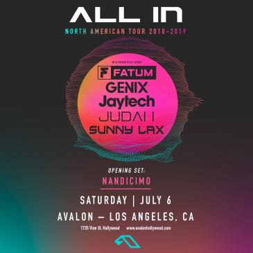 All In Tour: Fatum, Genix, Jaytech, Judah, Sunny Lax: Main Image
