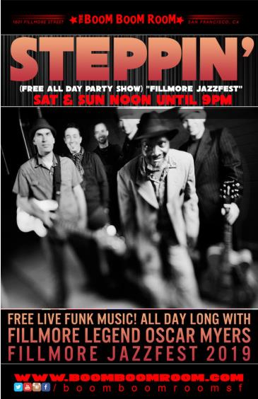 Fillmore JazzFest - STEPPIN' (Freee All Day Show) 12pm-9pm: Main Image