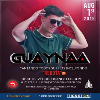 Guaynaa One Night Only Tickets Avail. At the Door Box Office: Main Image