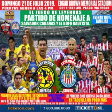 LEYENDAS AMERICA VS  LEYENDAS CHIVAS: Main Image