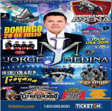 JORGE MEDINA TOUR USA 2019 RODEO BAILE: Main Image