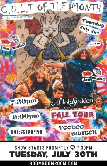 C.U.L.T. -  AllofaSudden, Fall Tour, Voodoo Switch (7:30pm): Main Image
