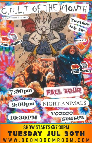 C.U.L.T. -  Night Animals, Fall Tour, Voodoo Switch (7:30pm): Main Image