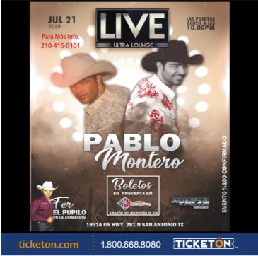 PABLO MONTERO: Main Image