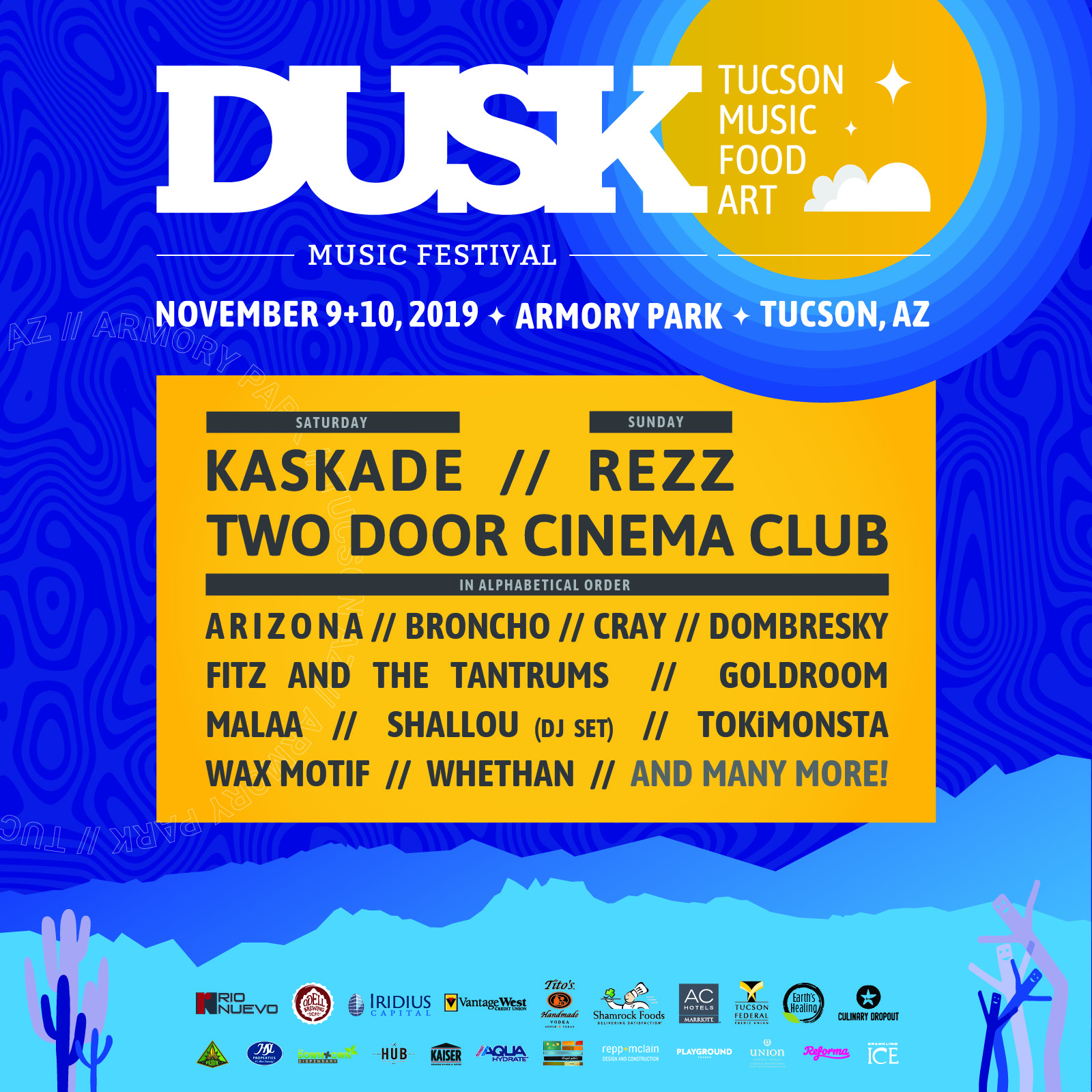 Buy Tickets to Dusk Music Festival 2019 in Tucson on Nov 09
