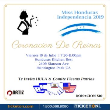 Miss Honduras Independencia 2019