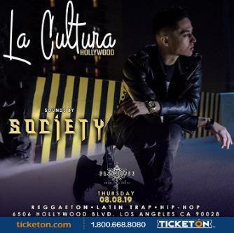 LA CULTURA THURSDAYS | DJ SOCIETY AT PLAYHOUSE: Main Image