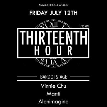 BARDOT FRIDAY 7.12 AFTER HOURS: THIRTEENTH HOUR: Main Image