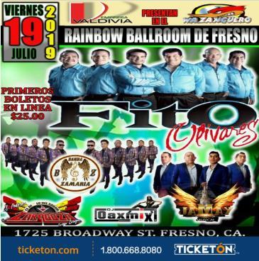 FITO OLIVARES EN EL RAINBOW BALLROOM: Main Image