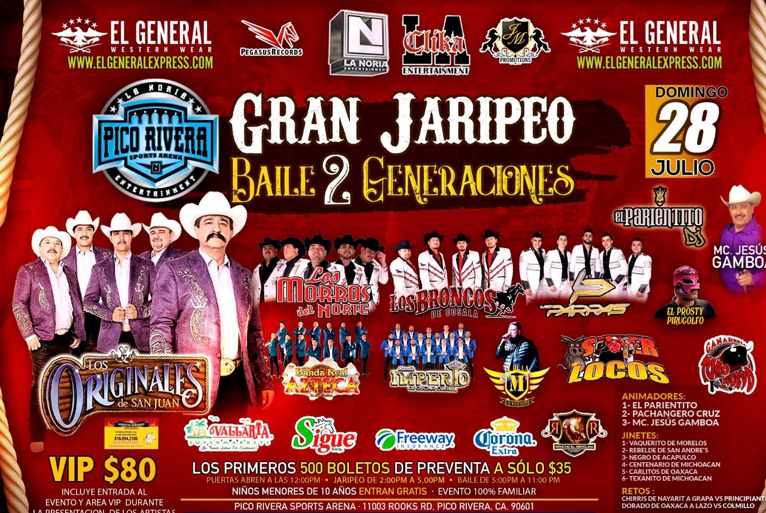 Buy Tickets to JARIPEO DOS GENERACIONES in Pico Rivera on
