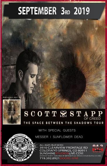 """Scott Stapp of Creed & Messer """"Space Between Shadows"""" Tour: Main Image"""