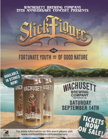 Wachusett Brewing 25th Anniversary Concert with Stick Figure: Main Image