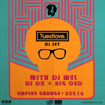 Questlove (DJ Set) with DJ Mel, DJ DK + Big Ced: Main Image