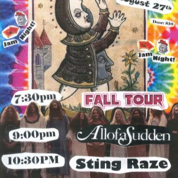 C.U.L.T. -  AllofaSudden, Fall Tour, Sting Raze (7:30pm)-img