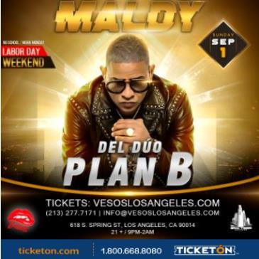 VESOS PRESENTS MALDY DEL DUO PLAN B: Main Image