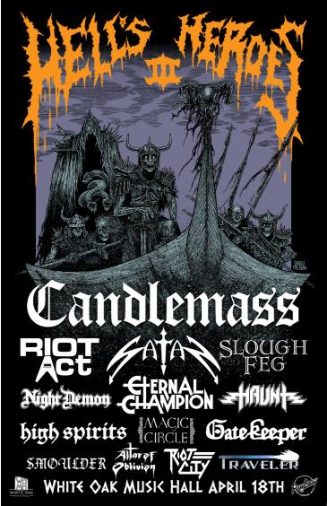 Hell's Heroes Festival w/ Candlemass, Riot Act (CANCELED): Main Image