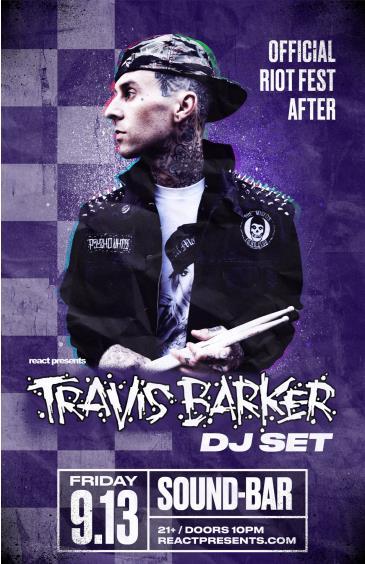 Official Riot Fest After: Travis Barker (DJ Set): Main Image