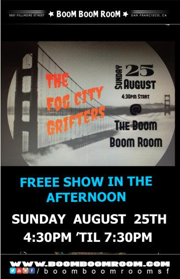 """THE FOG CITY GRIFTERS (4:30pm 'til 7:30pm) """"No Cover Charge"""": Main Image"""
