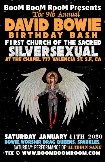DAVID BOWIE BIRTHDAY BASH @ The Chapel *Sacred SilverSexual*: Main Image
