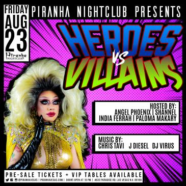 PIRANHA PRESENTS HEROES VS VILLAINS-img