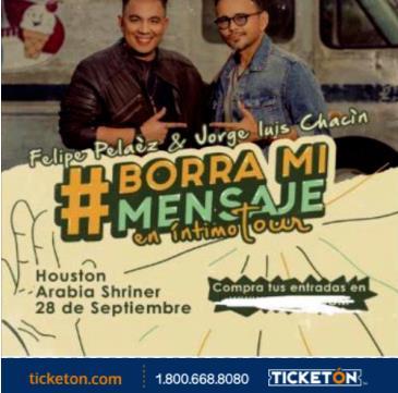 """FELIPE PELAEZ & JORGE LUIS CHACIN """"BORRA MI MENSAJE TOUR"""": Main Image"""