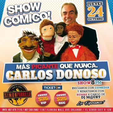 CARLOS DONOSO - MAS PICANTE QUE NUNCA: Main Image