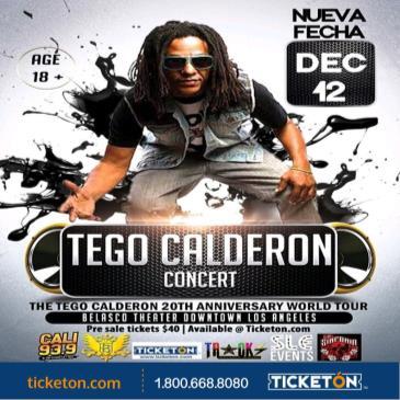 CANCELADO TEGO CALDERON 20TH ANNIVERSARY TOUR: Main Image