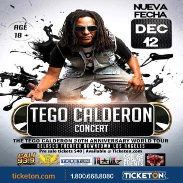 TEGO CALDERON 20TH ANNIVERSARY TOUR