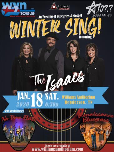 WYN 106.9 presents Winter Sing ft. The Isaacs: Main Image