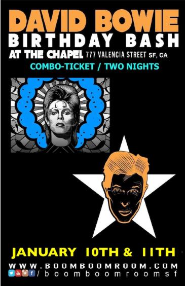 DAVID BOWIE BASH  (combo ticket special - both nights shows): Main Image