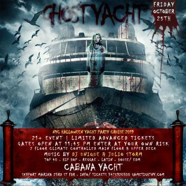 NYC Halloween Party Cruise at Skyport Marina Cabana Yacht-img