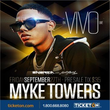 MYKE TOWERS LIVE IN CONCERT INSIDE RUMBA ROOM: Main Image