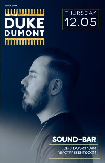 Duke Dumont: Main Image
