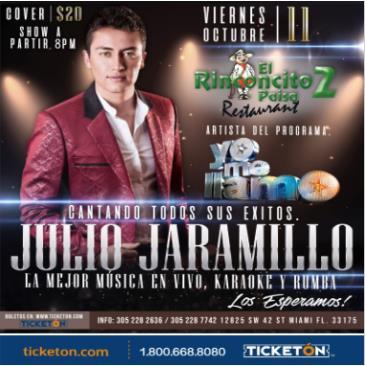 "JULIO JARAMILLO ""YO ME LLAMO"": Main Image"