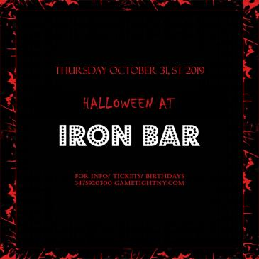 Iron Bar Halloween party 2019 only $15-img