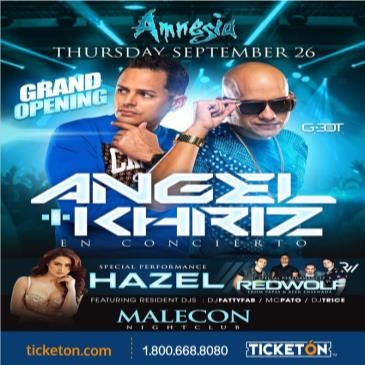 GRAND OPENING AMNESIA  ANGEL & KHRIZ