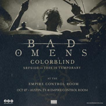 Bad Omens w/ Colorblind, SRFside, This Is Temporary: Main Image