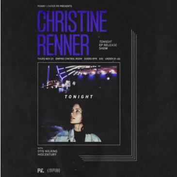 Christine Renner EP Release w/ Otis Wilkins + More: Main Image