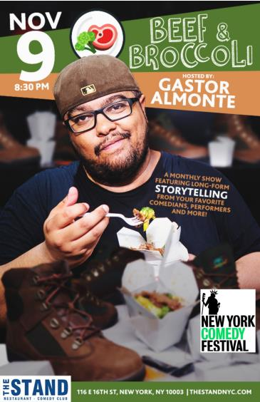NYCF Presents: Beef & Broccoli hosted by Gastor Almonte: Main Image