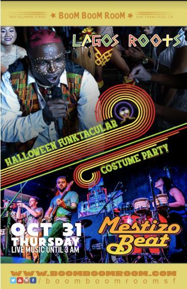 HALLOWEEN FUNKTACULAR *Mestizo Beat + Lagos Roots Afrobeat*: Main Image