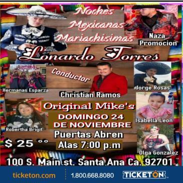 NOCHE MEXICANA MARIACHISIMA: Main Image