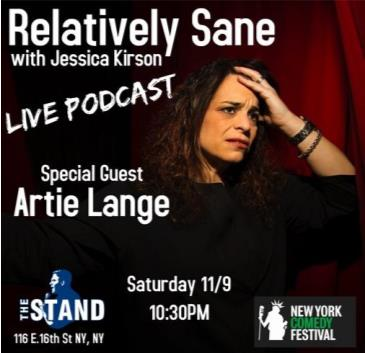 NYCF Presents: Relatively Sane w/ Jessica Kirson LIVE: Main Image