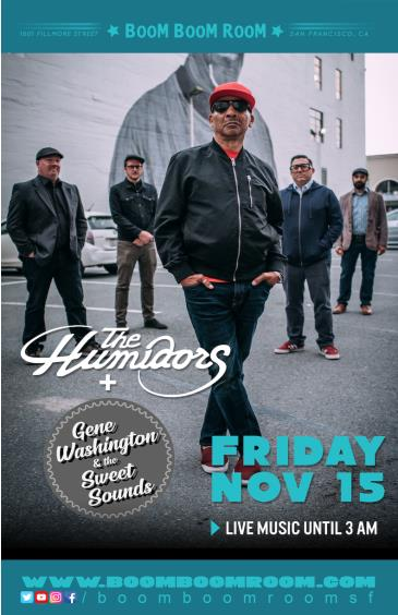 THE HUMIDORS  (+ GENE WASHINGTON & THE SWEET SOUNDS) +DJ Kos: Main Image