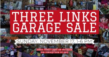 Three Links November Garage Sale: Main Image