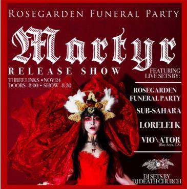 Rosegarden Funeral Party: Martyr Album Release: Main Image