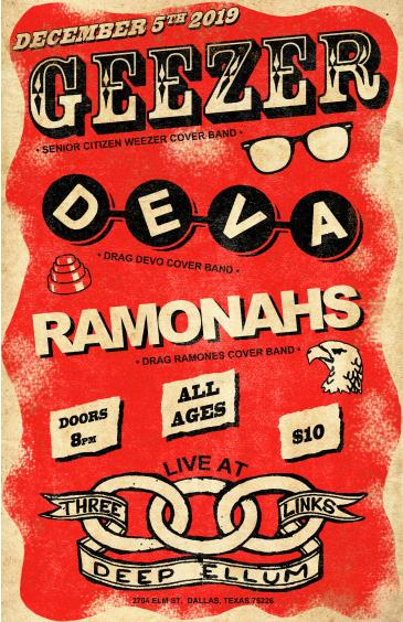 Ramonahs (Ramones), Deva (Devo), Geezer (Weezer): Main Image