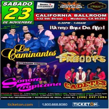 LOS CAMINANTES, LOS FREDDY'S & LA SONORA TROPICANA