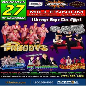 LOS FREDDY'S, GRUPO VENNUS, GRUPO EL TIEMPO Y MAS